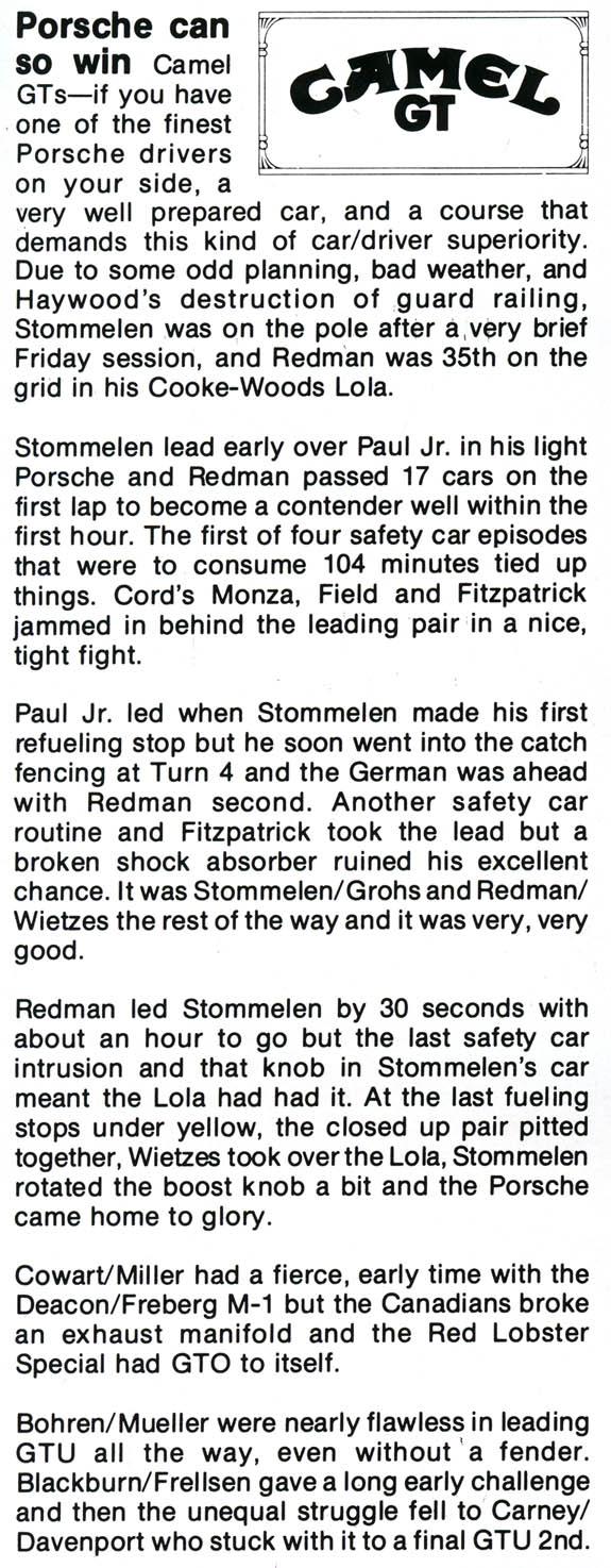 1981 Mosport Yearbooka