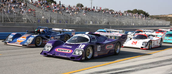 The purple beast lines up alongside the Kremer K8 as the grid prepares to roll. (© GrandTouringPrototype.com)