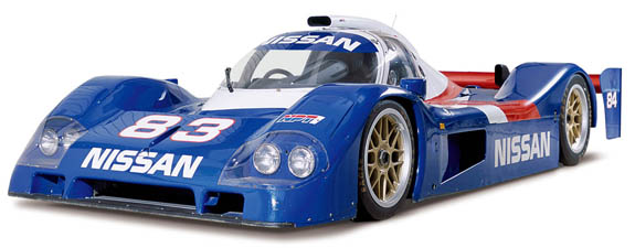 Nissan paid handsomely for BBS's lightest wheels for their 1992 and 1993 GTP cars. The ill-fated P35 from '93 is pictured here. (Courtesy of Nissan)