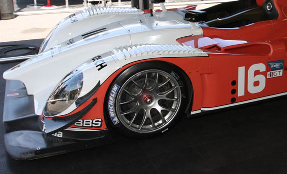 BBS is still heavily involved in sportscar racing today. Thier monobloc wheels are used on most entries in the American Le Mans Series. (© GrandTouringPrototype.com)