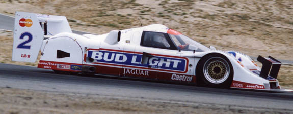 A wide variety of TWR USA Jaguars roleed to victory on BBS products. Davy Jones is seen here in 1991 with the twin-turbo V6 XJR-16. (© GrandTouringPrototype.com)